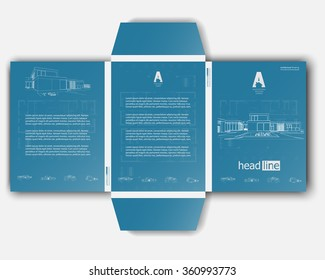 vector brochure envelope template layout a 4 stock vector royalty