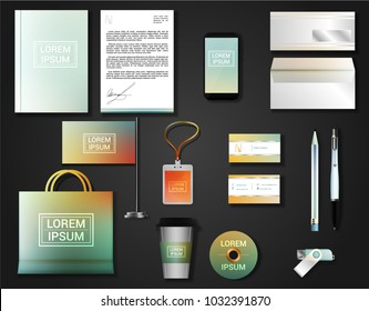 Vector brochure, flyer,  booklet set of corporate identity template.