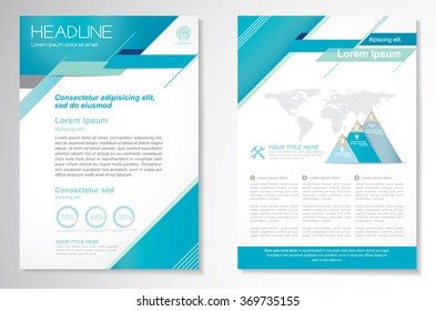 Vector Brochure Flyer design Layout template, Front page and back page, Easy to use and edit.