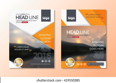 Vector Brochure Flyer design Layout template in A4 size,book cover layout design
