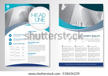 vector brochure flyer design layout template のベクター画像素材