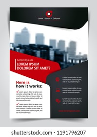Vector brochure, flyer, magazine cover & poster template. Size A4.