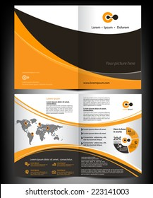 Vector brochure, flyer, magazine cover & poster template. Two ( 2 ) Pages.