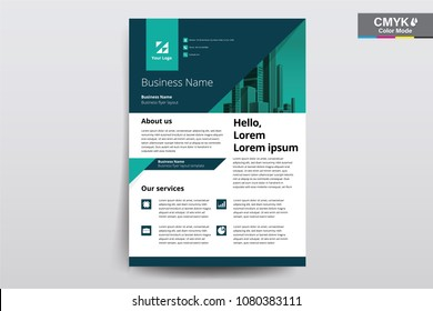 Vector brochure, flyer, poster design layout template , A4 size with 3mm bleed.