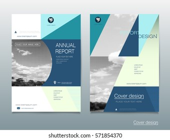 vector design brochure flyer business annual stock vector royalty