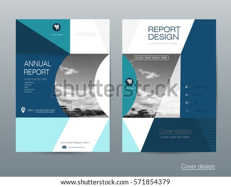 vector brochure flyer template layout a 4 stock vector royalty free