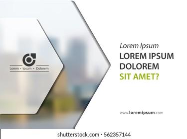 Vector brochure, flyer template, magazine cover, vector eps10