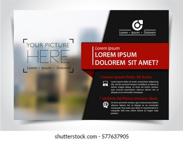 Vector brochure, flyer template, magazine cover, vector eps10