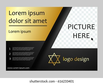 Vector brochure flyer template, magazine cover.