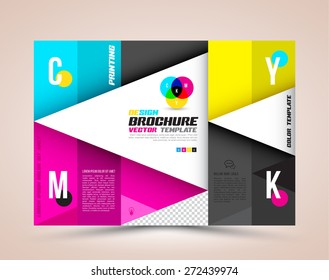 Vector Brochure Layout Design Template. CMYK concept. Vector illustration.