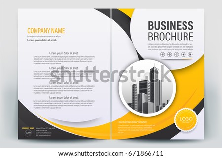 vector brochure layout flyers design template のベクター画像素材