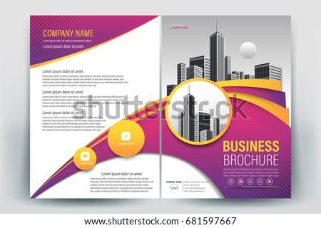 vector brochure layout flyers design template stock vector royalty