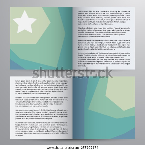 Vector brochure, magazine cover & poster template.