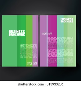 Vector brochure template design, A4 size. Professional business flyer template or corporate banner design, can be use for publishing, print and presentation. Colorful pattern.