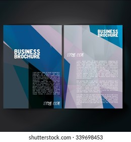 Vector brochure template design, A4 size with colorful polygonal pattern. Professional business flyer template or corporate banner design, can be use for publishing, print and presentation.