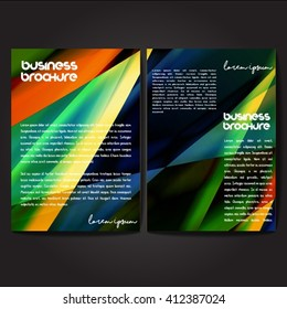 vector brochure template design a 4 size stock vector royalty free