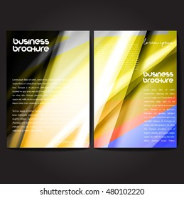 Vector brochure template design, A4 size with colorful wavy polygonal pattern. Professional business flyer template or corporate banner design, can be use for publishing, print and presentation.