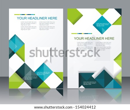 vector brochure template design cubes arrows のベクター画像素材