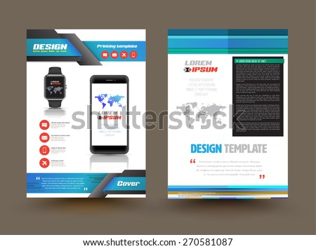 Vector Brochure Template Design Technology Product Image Vectorielle
