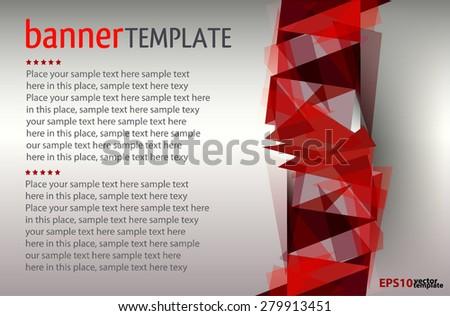 vector brochure template design triangle elements stock vector