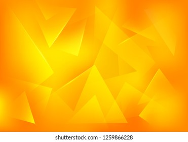Vector Broken Glass Yellow Background. Explosion, Destruction Cracked Surface Illustration. Abstract 3d Bg for Summer Party Posters, Banners or Advertisements.