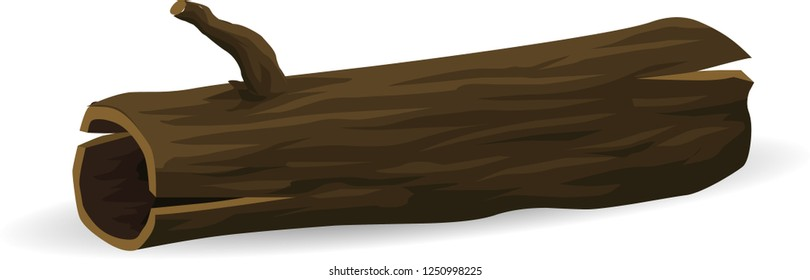 vector of broken tree, stump , rotten stump cartoon vector