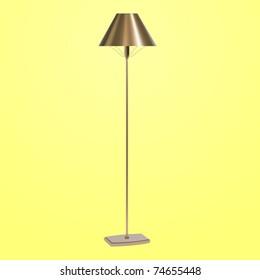 vector bronze floor lamp