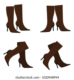 Vector brown boots