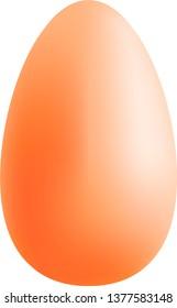 Vector brown egg.