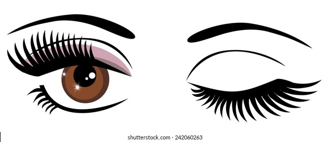 eye wink images stock photos vectors shutterstock rh shutterstock com Moving Winking Eyes Clip Art Large Winking Eye Clip Art