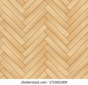 Vector brown seamless pattern with wooden zigzag panels and planks. Grunge old wood herringbone tile parquet floor background