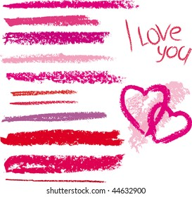 Vector brush made by line lipstick