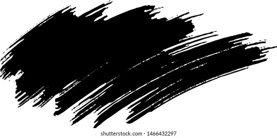Vector brush srokes texture. Distressed uneven texture. Grunge background. Abstract vector illustration. Overlay to create interesting effect and depth. Black isolated on white background. EPS10.