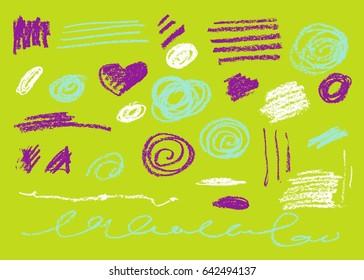 Vector Brush Stroke. Grunge Ink pen. Distressed quill. Modern Textured pen Stroke. set