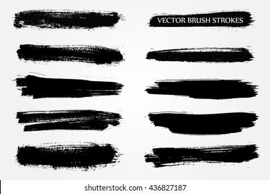 Vector Brush Stroke.Hand Drawn Brush Stroke.