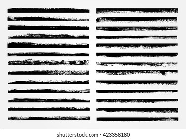 Vector brush strokes.Set of grunge edges.Grunge borders.