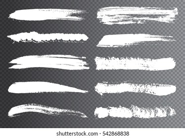 Vector Brush Strokes.Hand Drawn Brushes.Grunge Paint Stripe .