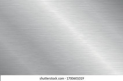 Vector brushed metal texture. Steel background with scratches.
