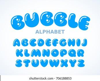 Vector bubble alphabet, Letters A-Z. Eps8. RGB Global colors