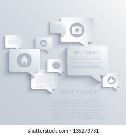 Vector bubble speech background. Eps10
