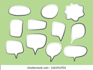 Vector bubbles speech set. hand-drawn. Illustration.