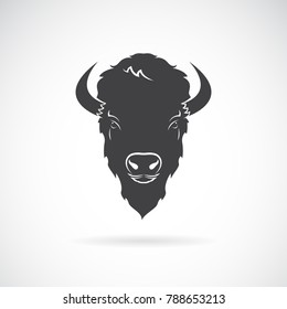 Vector of a buffalo head design on white background. Wild Animals. Easy editable layered vector illustration.