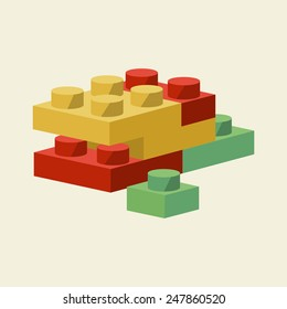 Vector Building Blocks Flat Illustration