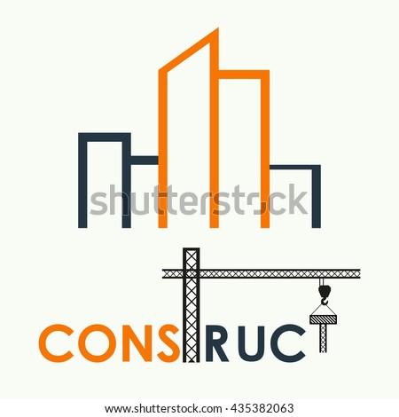Vector Building Company Logo Building Symbol Stock Vektorgrafik