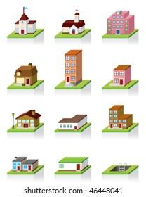 Vector Building Icon -- 3D Illustration