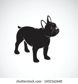 Vector of bulldog design on white background. Pet. Animals. Dog logo or icon. Easy editable layered vector illustration.