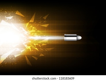 vector bullet shooting, criminal concept, abstract background