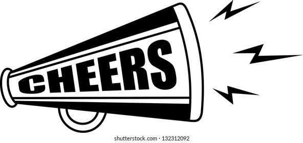 cheerleader megaphone images stock photos vectors shutterstock rh shutterstock com free cheerleading megaphone clipart cheer megaphone clipart black and white
