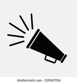 vector bullhorn symbol