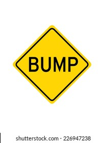 Vector 'Bump' Traffic Sign